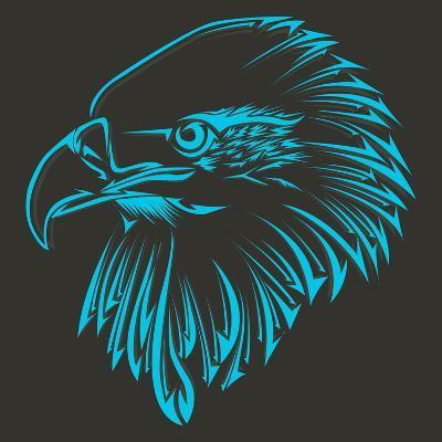 Bird Tribal Tattoo- achupret-Art Print