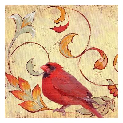 Bird Vine Square 4-Lorraine Rossi-Art Print