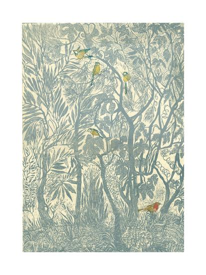 Bird Watching from the Kitchen Window: Robin-Mary Kuper-Giclee Print