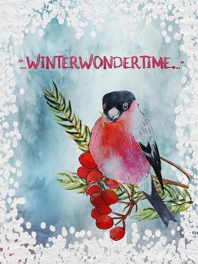 Bird Winter Snow Christmas Illustration 4-Grab My Art-Art Print