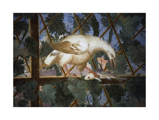 Bird with Fish in its Claws, Detail from Frescoes, Villa Giulia--Giclee Print