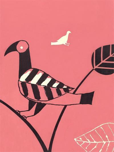 Bird with Leaf Wing--Art Print