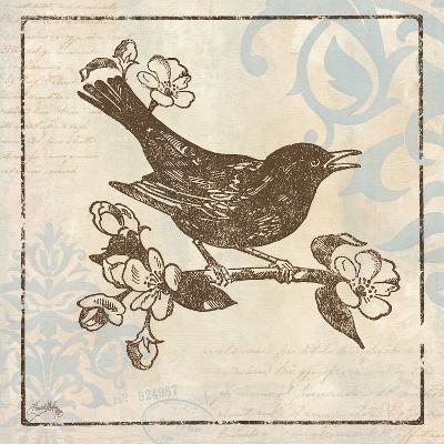 Bird Woodcut I-Elizabeth Medley-Premium Giclee Print