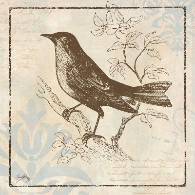 Bird Woodcut II-Elizabeth Medley-Premium Giclee Print