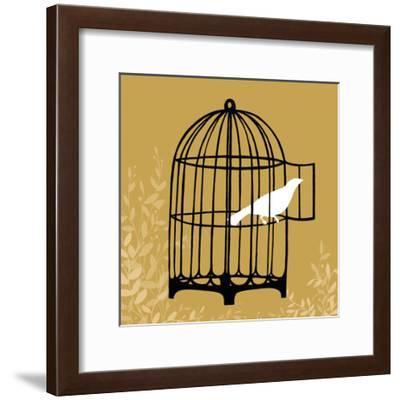 Birdcage Silhouette II-Erica J. Vess-Framed Art Print
