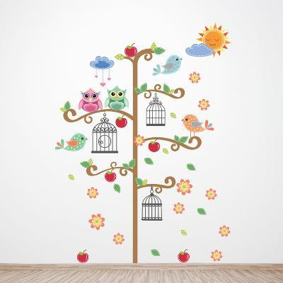 Birdcage Tree--Wall Decal