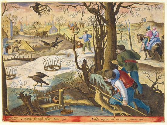 Birdcatchers Using Traps Baited with Rats to Capture Hawks-Jan van der Straet-Giclee Print