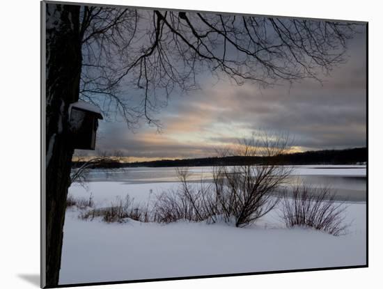 Birdhouse at Sunset by West Lake, Danbury, Connecticut-Eric Gottschalk-Mounted Photographic Print