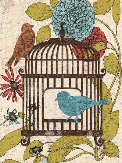 Birds and Blooms IV-Todd Williams-Art Print
