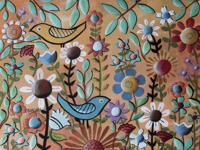 Birds and Flowers 1-Karla Gerard-Giclee Print