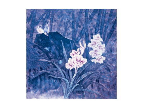 Birds and Flowers at Night-Qishu Wu-Giclee Print