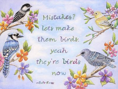 Birds and Flowers Quote-Michelle Faber-Giclee Print