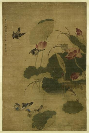 Birds and Flowers-Jiang Tingxi-Giclee Print