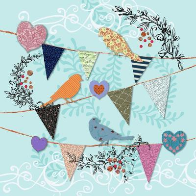 Birds and Hearts-Art Licensing Studio-Giclee Print