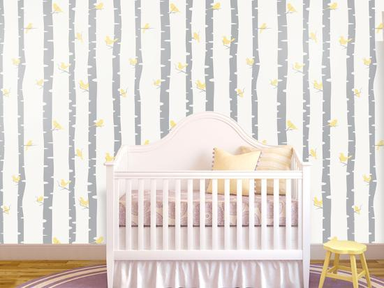 Birds - Canary Self-Adhesive Wallpaper--Home Accessories