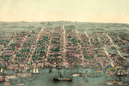 Birds Eye View Of Alexandria Va Usa America Giclee Print By