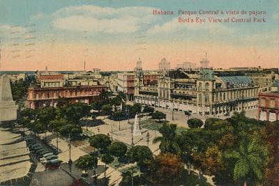 Birds-Eye View of Central Park, Havana, Cuba, C1919--Giclee Print