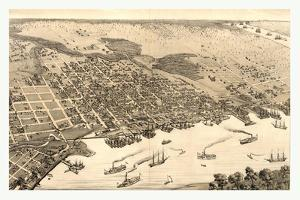 Birds Eye View of Jacksonville, Fla., Circa 1876, USA, America