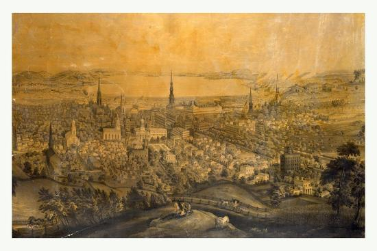 Birds Eye View of Syracuse, N.Y., 1850s?, USA--Giclee Print