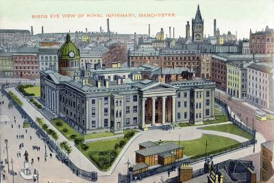 Birds Eye View of the Royal Infirmary, Manchester--Giclee Print