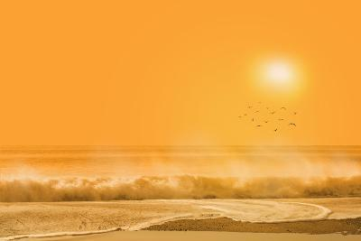 Birds Flying over Sea-Marco Carmassi-Photographic Print