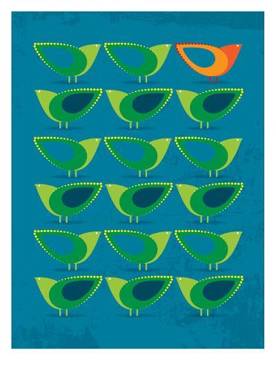 Birds Illustration III-Patricia Pino-Art Print