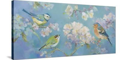 Birds in Blossom-Sarah Simpson-Stretched Canvas Print