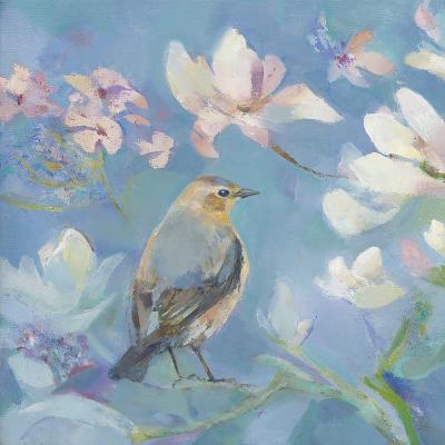 Birds in Magnolia - Detail I-Sarah Simpson-Art Print