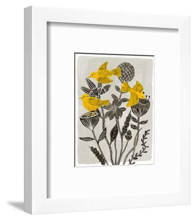 Birds in My Garden II-Melissa Wang-Framed Art Print