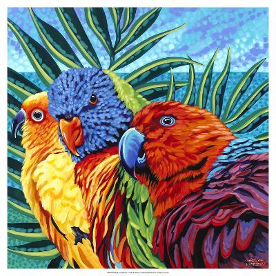 Birds in Paradise I-Carolee Vitaletti-Art Print