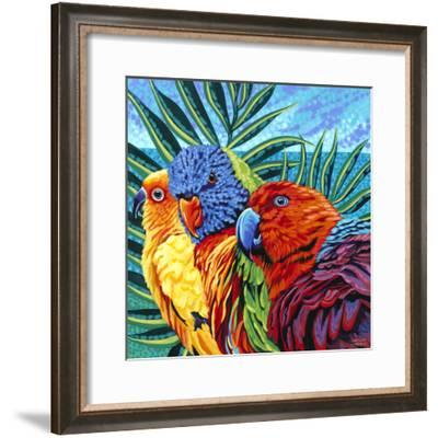Birds in Paradise I-Carolee Vitaletti-Framed Art Print
