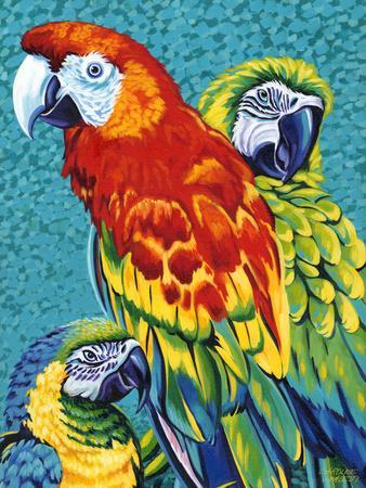Birds in Paradise III-Carolee Vitaletti-Art Print