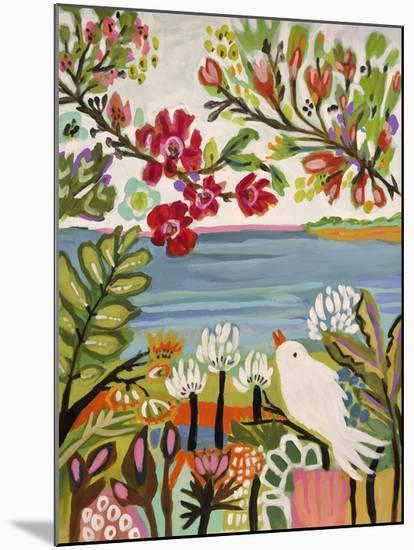 Birds in the Garden II-Karen  Fields-Mounted Art Print