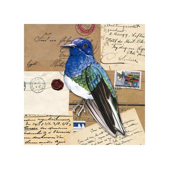 Birds Letters IV--Art Print