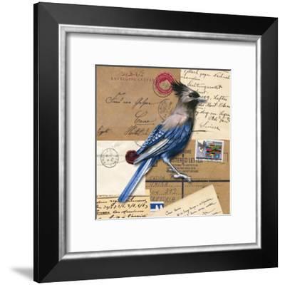 Birds Letters VI--Framed Art Print