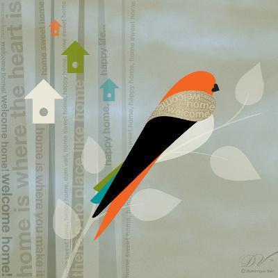 Birds Life - Home Sweet Home-Dominique Vari-Art Print