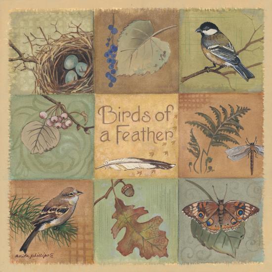 Birds of a Feather-Anita Phillips-Art Print