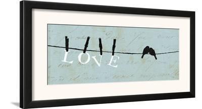 Birds on a Wire - Love-Alain Pelletier-Framed Art Print