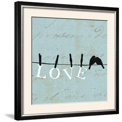 Birds on a Wire Square-Pela Design-Framed Photographic Print