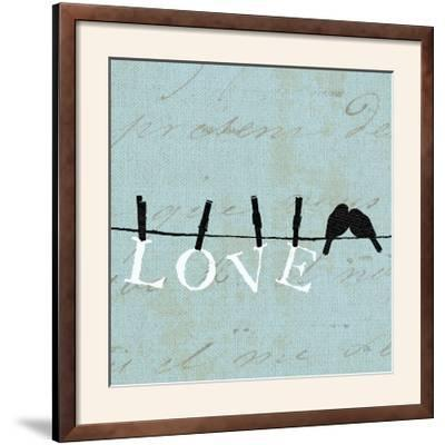 Birds on a Wire Square-Pela Design-Framed Photographic Print