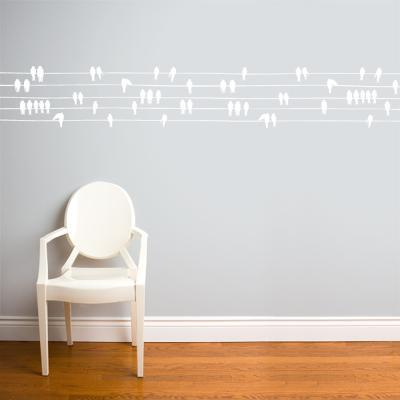 Birds on a Wire Wall Decal--Wall Decal