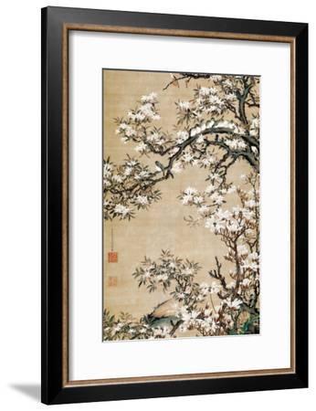Birds on Aronia Branch-Jakuchu Ito-Framed Giclee Print