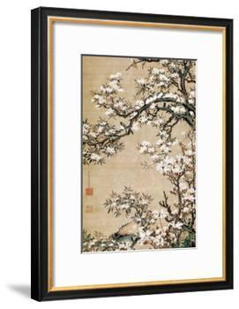 Birds on Aronia Branch-Jakuchu Ito-Framed Premium Giclee Print