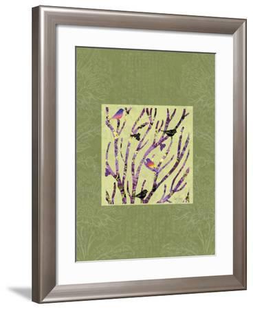Birds on Branches Vignette-Bee Sturgis-Framed Art Print