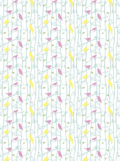 Birds on Branches-Josefina Baumann-Giclee Print