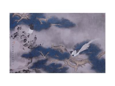 Birds on Pine Tree-Hsi-Tsun Chang-Giclee Print