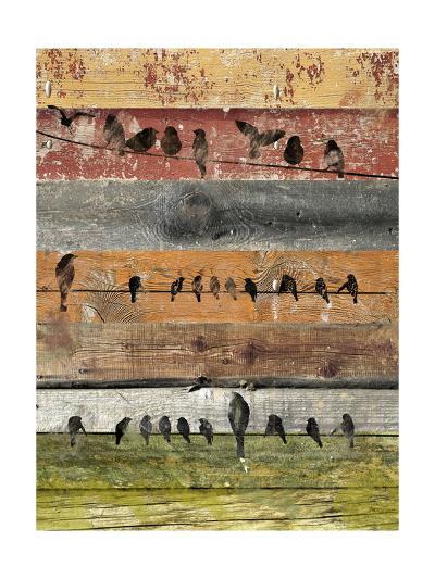 Birds on Wood I-Irena Orlov-Art Print
