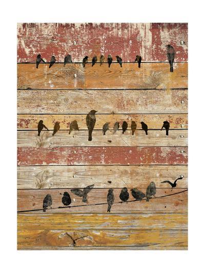 Birds on Wood II-Irena Orlov-Art Print