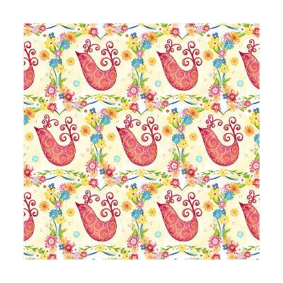 Birds Pattern-Jacque Pierro-Art Print
