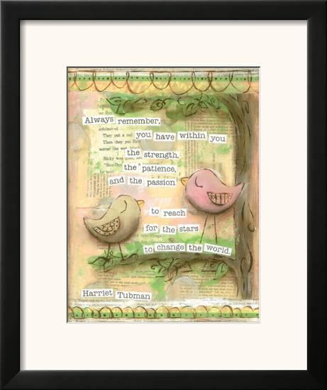 Birds Pink 1 Framed Art Print by Diane Stimson | Art com